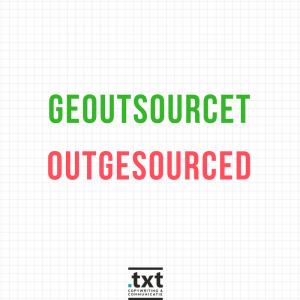 Engelse werkwoorden: geoutcourcet
